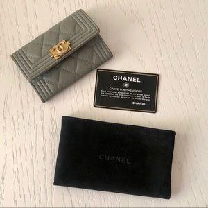 Chanel Le Boy Flap Card Holder Wallet